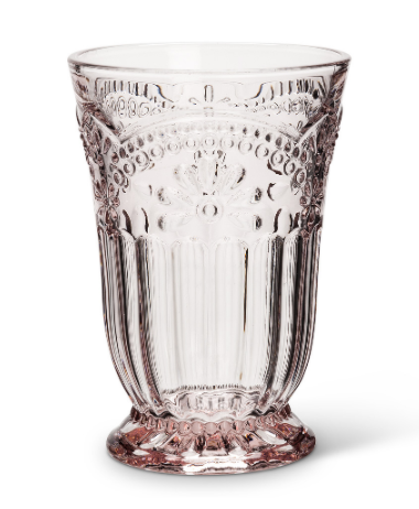 Abbott- Flower Highball Glass-Pink 8oz