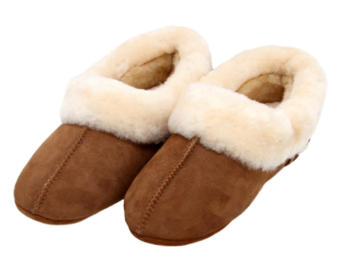 Auckland Sheepskin Slippers, Hemma - Ladies Dk Brown