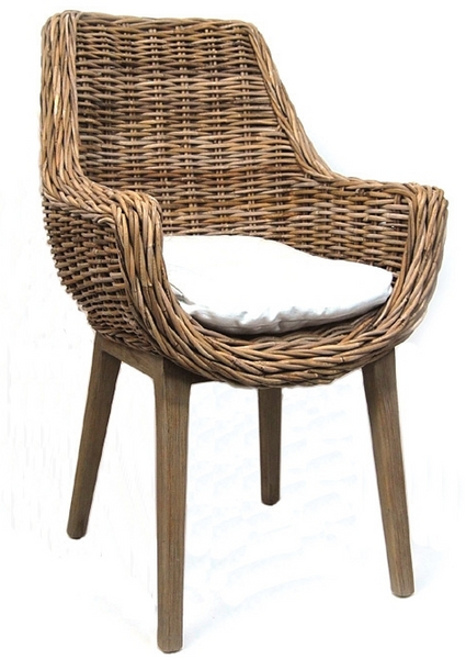 Bacon Basket- Rattan Chair w/ Cushion