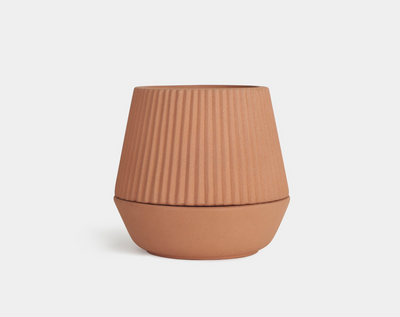 Earthen Pleated Planter, Umbra