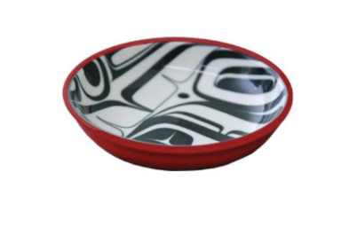 Panabo - Kelly Robinson - Raven Dish, Blk/Red Small