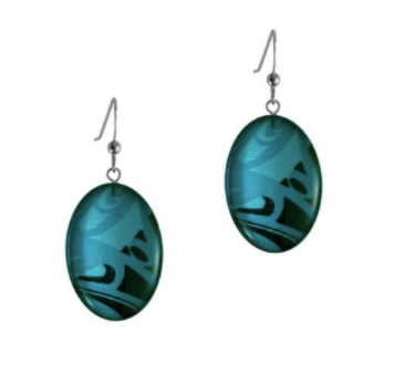 Earrings, Corrine Hunt-Silk Inspired Collection