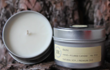 Soy Candles 100%, 4 oz Travel Tins-Rosalinde Blake Collection