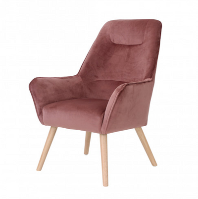 Agence Viva- Side Chair, Milan (Dusty Rose)