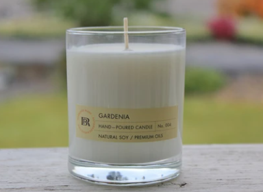 Soy Candles 100%, 7 oz Glass Tumbler-Rosalinde Blake Collection