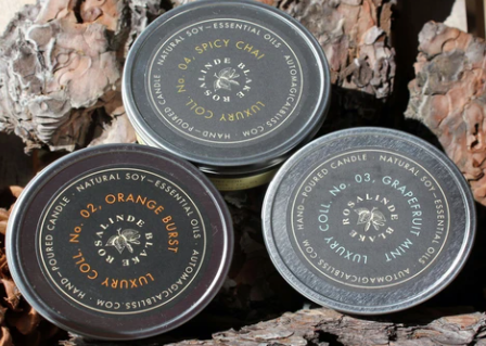 Soy Candles, 7 oz Travel Tins-Rosalinde Blake Collection