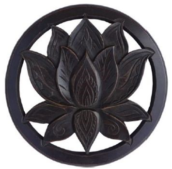 Lotus Wooden Wall Art