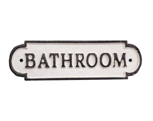 Bathroom, Plaque-Cast Iron