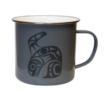 Native Northwest- Enamel Mug, Orca