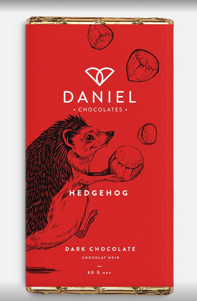 Daniels Chocolates- Dark Chocolate Hedgehog Bar