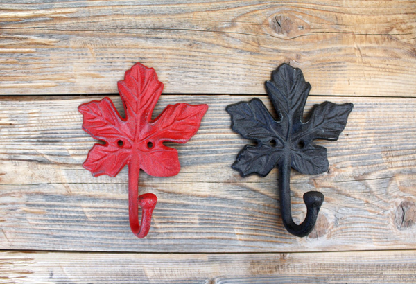 Maple Leaf Hook, Cast Iron