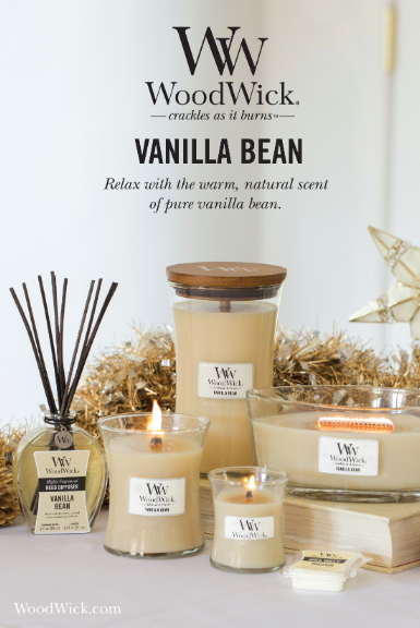 Woodwick-Crackling Candle-Vanilla Bean