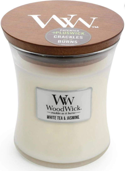 Woodwick/Crackling, White Tea & Jasmine