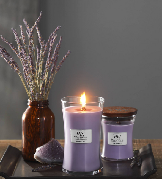 Woodwick- Crackling Candle - Lavender Spa