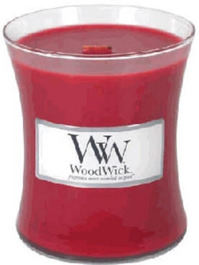 Woodwick- Crackling Candle - Currant