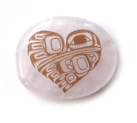 Spirit Stone- Rose Quartz, Hummingbird Heart