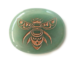 Spirit Stone- Green Adventurine, Bee