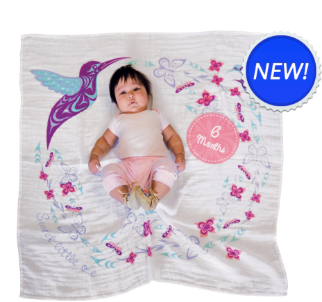 Baby Blanket/Milestones Set, Hummingbird-Simone Diamond