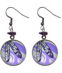 Native Northwest- Urban Feathers Charm Earrings