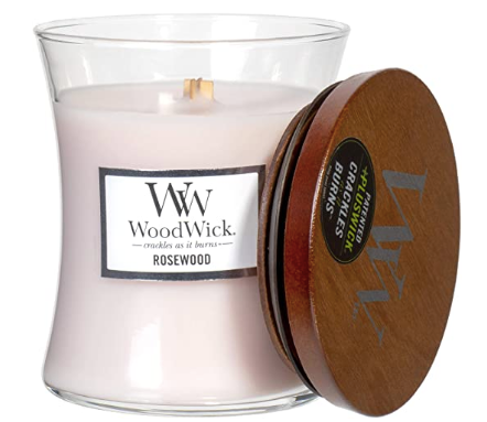 Woodwick- Crackling Candle, Rosewood