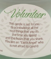 Earth Angel- Inspirational Vanilla Scented Candle