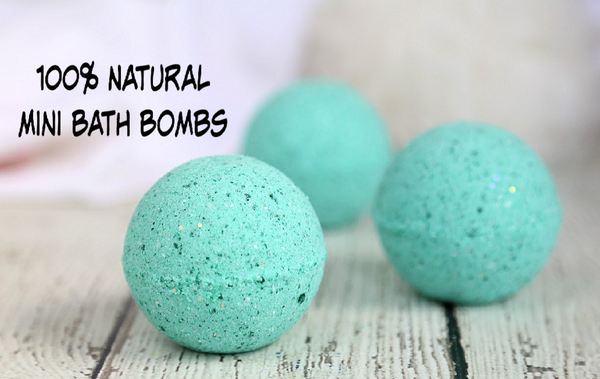Bath Bomb Co- 100% Natural Canadian Mini Bombs