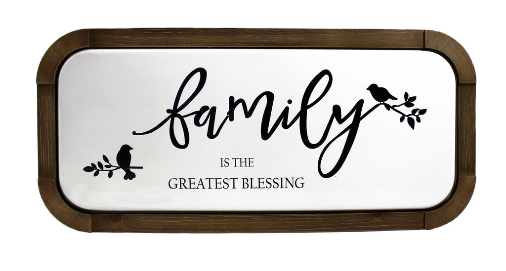 Splash- Wood/Metal Plaque, Family Blessing...
