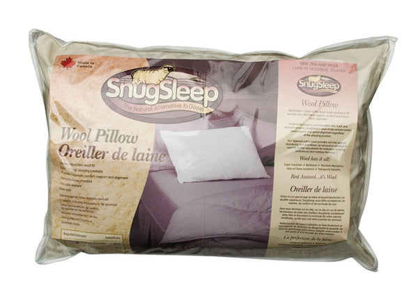 SnugSleep- Wool Pillow, Regular Fill
