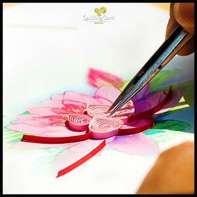 Quilling Card- Hand Crafted, Adirondac
