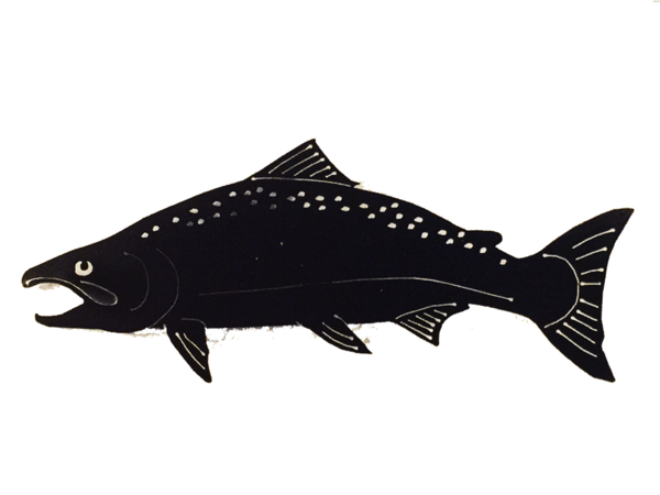 Anvil Island- Plasma Cut Salmon, Black
