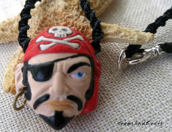 Handmade Hand Knotted Pirate Necklace
