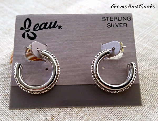 Made in USA Beau Sterling Silver Earrings