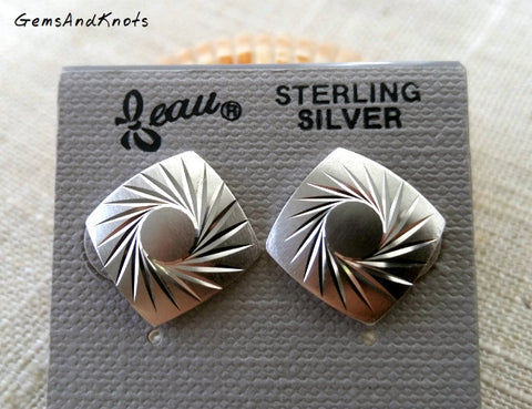 Vintage Beau Jewelry Sterling Silver Post Earrings