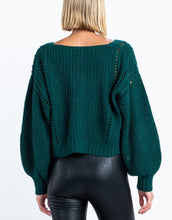 Load image into Gallery viewer, Hunter Cropped Sweater