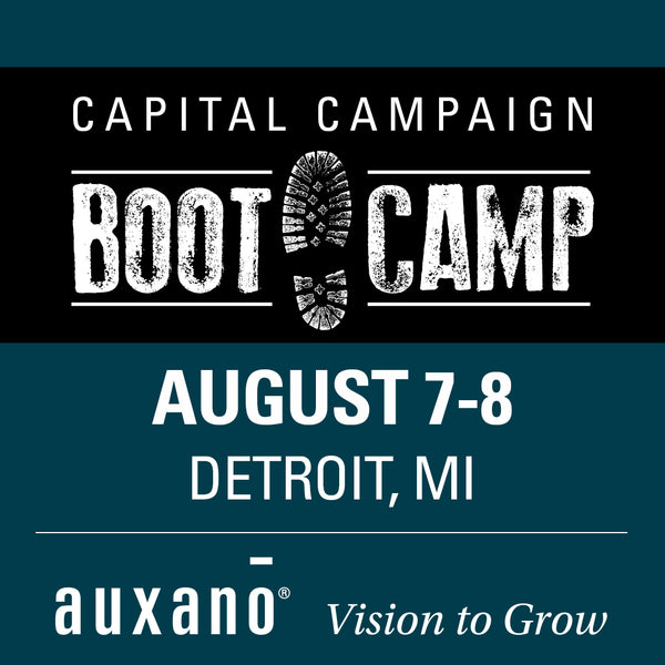 Capital Campaign Boot Camp 2 - August 7-8 2019