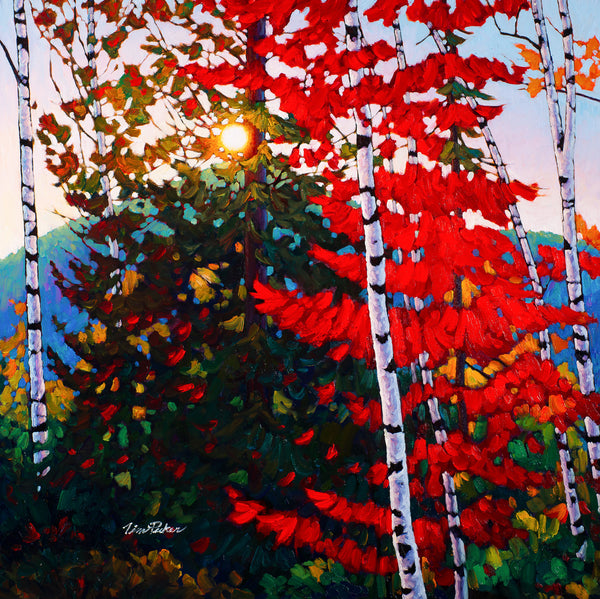 "Twilight Symphony, Mont Tremblant - Available at 8"" by 8"", 12"" by 12"" and 16"" by 16"""