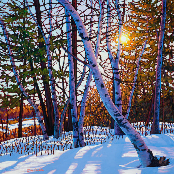 "Afternoon Glow, Lynde Marsh 30"" by 30"""