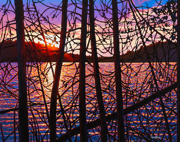 "Day's End, Trapper's Trail 38"" by 47.5"" and 48"" by 60"" Diptych"