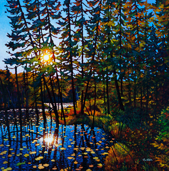 "End of Day, Trapper's Trail - Available at 8"" by 8"", 12"" by 12"" and 16"" by 16"""
