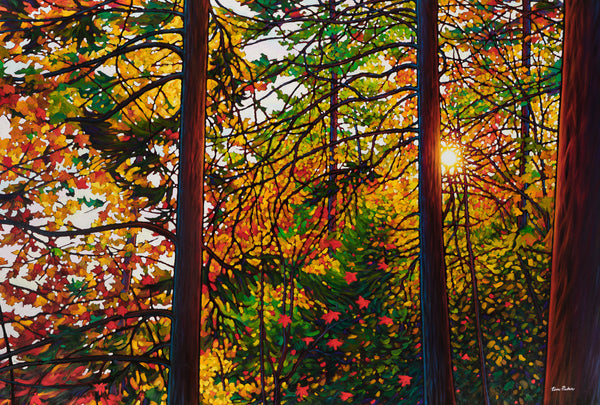 "Glowing Pines, Batchewana Bay 38"" by 57"" and 48"" by 72"" Diptych"