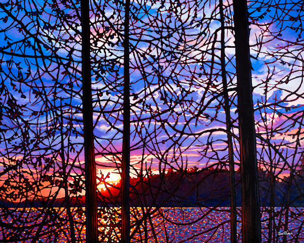 "Night Falls, Algoma 38"" by 47.5"" and 48"" by 60"" Diptych"
