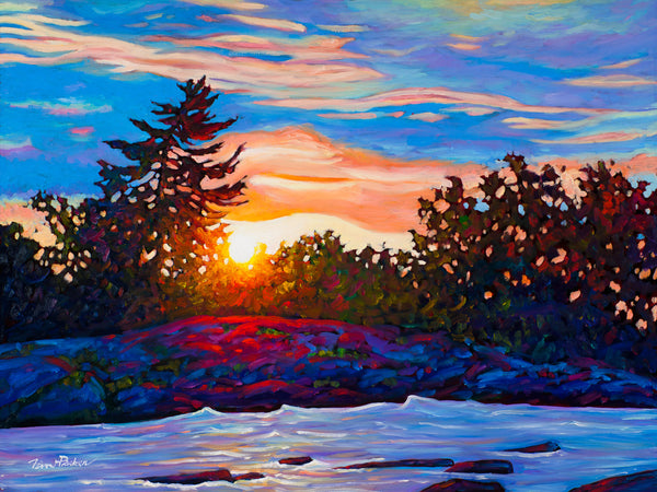 "Summer Glow, Burleigh Falls - Available at 21"" by 28"" Framed"