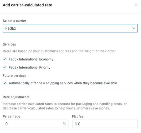 Why you should have carrier calculated shipping activated on your Shopify store