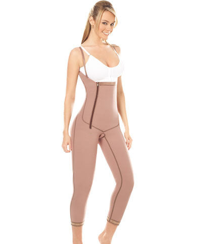 Body Girdle W/Suspenders and Side Zipper to the Ankle (10022)