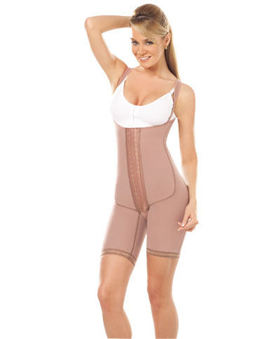 Body Girdle W/Frontal Closure and Sleeves to the Knee (10172)