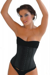 Latex Long Corset Waist Trainer - 2 Row