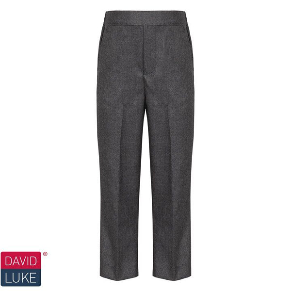 David Luke junior flat front, slim fit pull up trousers (DL939)