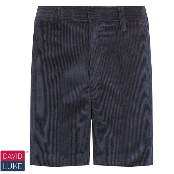 David Luke Navy Junior Corduroy Classic Shorts (DL963)