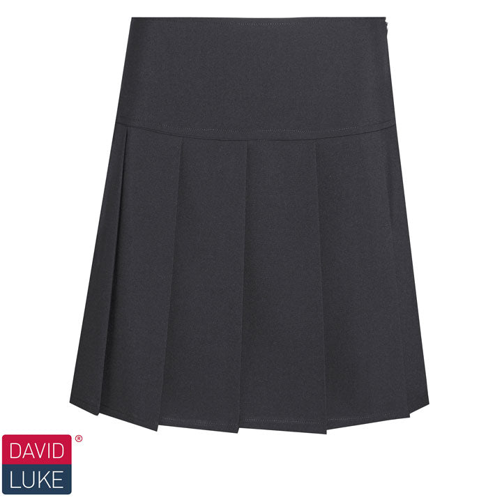 David Luke Senior Girls Pleated Skirt DL976 Black