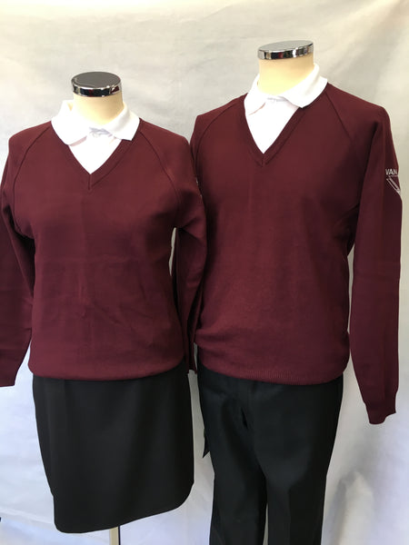 Vandyke Upper School Unisex V-Neck Jumper